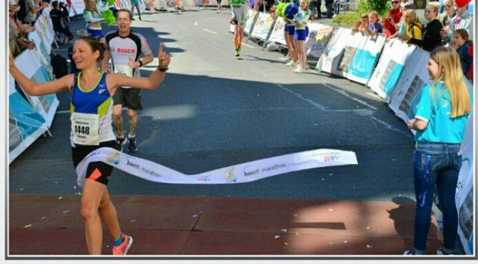 Verena Ibel -Siegerin beim Würzburg Halbmarathon