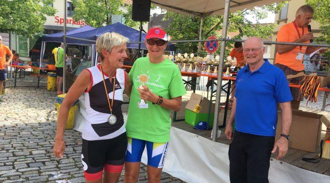 Unterfränkische Triathlons in Hofheim und Kitzingen